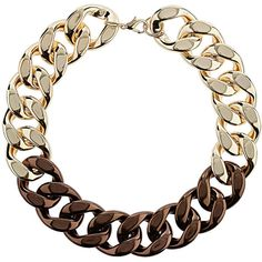 TOPSHOP Mixed Metal Chunky Chain (€25) ❤ liked on Polyvore featuring jewelry, necklaces, accessories, mixed metal, mixed-metal jewelry, topshop necklace, topshop, topshop jewelry and mixed metal necklace