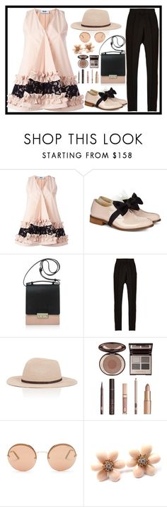 """""""Happy Friday!"""" by easy-dressing ❤ liked on Polyvore featuring MSGM, Pokemaoke, Joanna Maxham, Serena Bute, Eugenia Kim, Charlotte Tilbury, B Brian Atwood and Van Cleef & Arpels"""