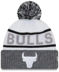 fcd62361303ab9 New Era Chicago Bulls Court Force Pom Knit Hat - White Adjustable