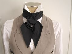 Cravat, basic black, for your steampunk costume, or with your tuxedo as an alternative to bow ties Kitenge, Steampunk Costume, Steampunk Fashion, Ascot, Costume Blanc, Cheongsam, Lehenga, Triquetra, Black Tie Affair