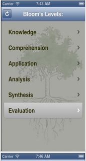 A Nice Blooms Taxonomy App for iPad ~ Educational Technology and Mobile Learning