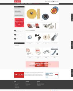 #Diseño #web MetalFix, empresa especializada en la distribución de productos abrasivos. Studio Apartment Design, Design Web, Products