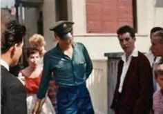 Elvis with fans at his Bad Neuheim house ( Germany ) in august 18  1959.