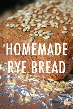 With its nutty flavor contrasted with a touch of sweetness & a touch of tang, we bet this homemade rye bread is going to be your new favorite carb. Bread Machine Rye Bread Recipe, Rye Bread Recipes, Healthy Bread Recipes, Easy Delicious Recipes, Yeast Bread, Greek Yogurt Muffins, Greek Yogurt Recipes, Recipe Fo, Rolls Recipe