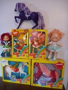 Mattel horse prototypes - Rainbow Brite