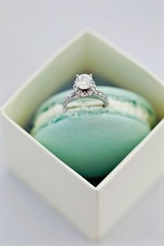 Who wouldn't say yes to that ring and a macaron!  :-)  Great idea to surprise her :))))))