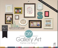 American Sweetheart DIY mambi Gallery Pads.  An easy way to do a Gallery Wall yourself.