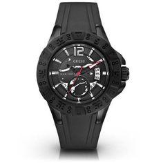 Guess Men's U0034G3 Black Sport Color Watch, Size: 47mm