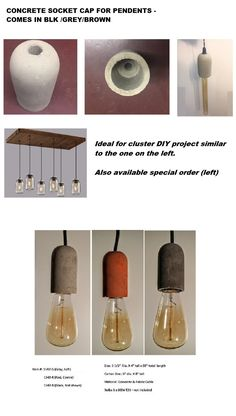 Kitchen Island Lighting, Ceiling Canopy, Glass Shades, Pendant Lighting, Concrete, Chrome, Diy Projects, Led, Crystals