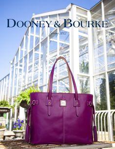 Dooney Spring LookBook - Featuring the Davis Tassel Shopper (HL655) in Magenta (Cover)