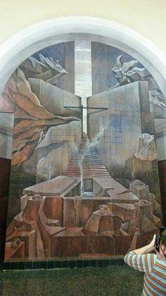 O mural de Carlos Colombino. em Concepcion, Paraguai.