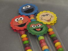 Sesame Street Friends Personalized Toppers by serenaspartyboutique, $15.00