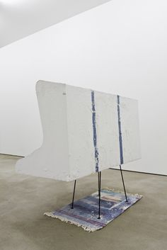 Thea Djordjadze  UNTITLED, 2008   PLASTER, PAINT, STEEL, FOAM, COTTON CARPET   125 X 130,5 X 70 CM