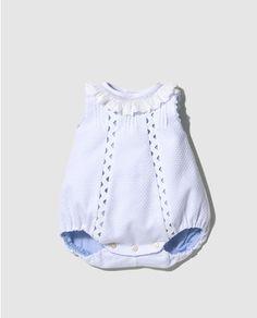 Ranita de pique de bebé niño Dulces en blanco Ropa Bautizo Niño 125703a9f91