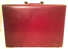 TUMI Italy Vintage Leather Business Hard Case Executive Briefcase Bag Mens #Tumi #BriefcaseAttache #Vintage #Briefcase #Leather #Business #Executive
