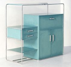 Aqua office drawers - I want these soooo bad!