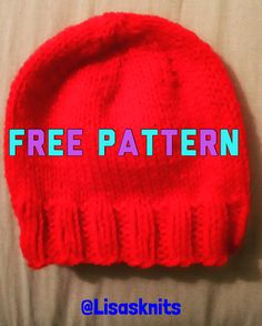 FREE PATTERN: Cute and easy baby hat at Lisasknits
