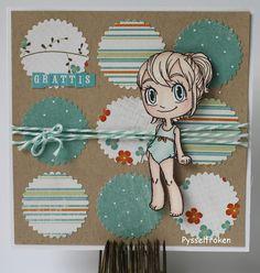 """Mollys scrapbooking: """"Födelsedagskort""""    Ungefär likadant som det andra kortet med MME papper."""