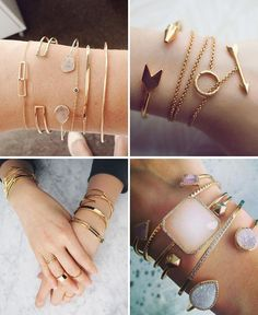 Bracletes and acessories Dainty Jewelry, Jewelry Accessories, Fashion Accessories, Fine Jewelry, Jewelry Necklaces, Fashion Jewelry, Jewellery, Ring Bracelet, Bracelets