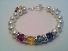 Swarovski (TM) Crystal Chromosome Disorder Awareness Bracelet. $45.00, via Etsy.
