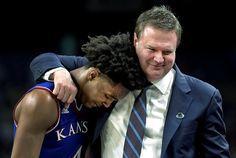 One of the best pix ever.even if it was a loss. Kansas Jayhawks Basketball, Kansas Basketball, Basketball Teams, U Rock, University Of Kansas, God Bless America, Pay Heed, Coaching, Graham