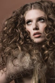 Very Texturized Curly Brown Hair