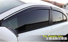 For Honda Cr-v Crv 2017 2018 Plastic Window Visor Sun Guard Rain Vent Deflector Shield Accessories With Side-silver Chromed 4pcs Awnings & Shelters