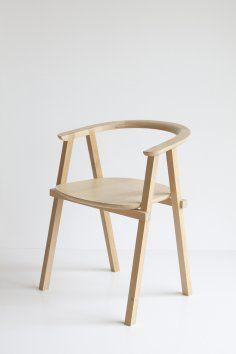 Chaise minimaliste en chêne