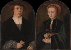 1533 Barthel Bruyn the Elder - Portrait of a Man and a Woman