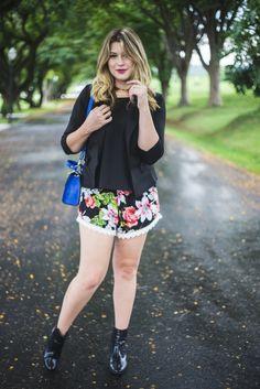 Look do dia: short floral com renda — Niina Secrets