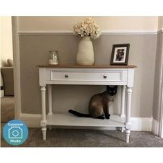 Shop the Pine & White Console Table with Drawer - Auckland here. Expert advice & competetive delivery options available. Low Shelves, Open Shelving, White Console Table, House Keys, Large Drawers, Top Drawer, Staying Organized, Auckland, Traditional House