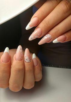 Nails * nail art * elegant * almond