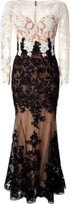 Zuhair Murad Silk Lace Detailed Gown