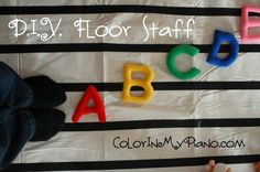 DIY floor staff for the music classroom