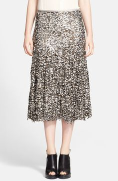 Lusting after this sparkly Michael Kors paillette fringe skirt.