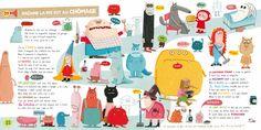 """Voici quelques images du livre-disque pour enfants que j'ai illustré, """"Ma tata, mon pingouin, Gerard et les autres...""""  Paru en septemb..."""
