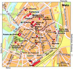 Image result for metz france tourist map