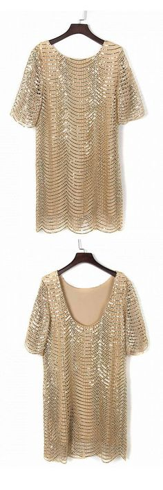 aha, super brilliant sequins low back dress - for girls parties and proms - you wont miss this!