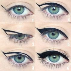 To get the perfect flick in Step 1, hold your eyeliner diagonally on your face from the corner of your nostril up to the corner of your eye. Where the pencil hits at your eye will be the perfect angle for you.