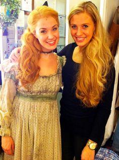Sierra Boggess and Celine Schoenmaker, who will take over from Sierra as London Fantine.