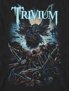 Trivium by Casey Howard, via Behance Dark Artwork, Music Artwork, Metal Artwork, Heavy Metal Art, Heavy Metal Bands, Thrash Metal, Power Metal, Hard Rock, Pantera Band