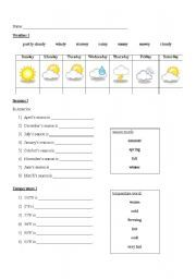 english worksheet weather and clothes matching angielski pinterest english vocabulary. Black Bedroom Furniture Sets. Home Design Ideas