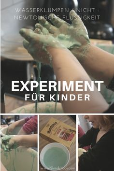 A fascinating experiment: water chunks with cornstarch and water - science elementary Water Experiments, Kindergarten Art Projects, Pregnant Diet, Home Schooling, Getting To Know, Toddler Activities, Chemistry, Told You So, Kids