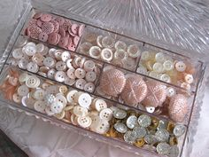 Vintage buttons - love buttons!!