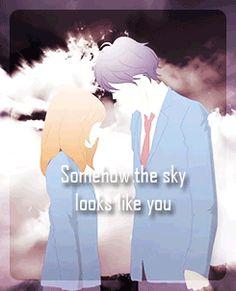 Kou x Futaba | Somehow the sky look like you - Ao Haru Ride / Blue Spring Ride