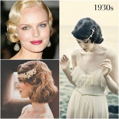 images of 1930's hair styles | 1930s vintage wedding hairstyles by Percy ... | hair pinstirations
