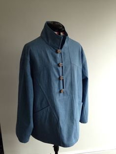 Blue Artist fisherman smock top | eBay