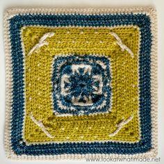 Winter Cottage Crochet Square