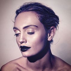 black lipstick trend,  Avante-Garde make up, punk make up, edgy make up by Carlos Palma  'The Face' of2016