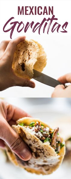 Making your own Mexican Gorditas at home is super easy! These little corn cakes made from masa dough have a little pocket in the middle made for stuffing with all sorts of delicious fillings! (gluten free, vegetarian, vegan) We are. Authentic Mexican Recipes, Mexican Food Recipes, Dinner Recipes, Ethnic Recipes, Mexican Appetizers, Masa Recipes, Cooking Recipes, Healthy Recipes, Gorditas Recipe Mexican